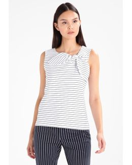 Tie Front Stripe Vest