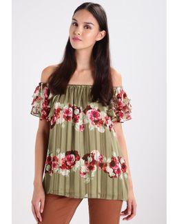 Lucia Floral Stripe Print T-shirt