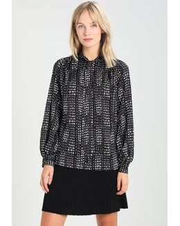 Tie Neck Abstract Blouse