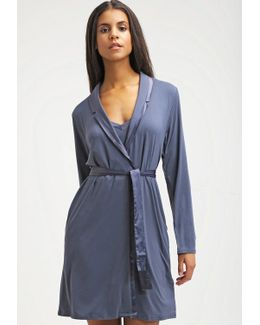 Modal With Satin Dressing Gown