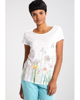 Flowers Down Print T-shirt
