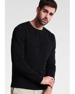 Embossed Neck Sweatshirt