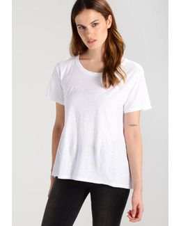 Slub Pleat Basic T-shirt