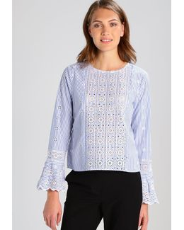 Eyelet Stripe Blouse