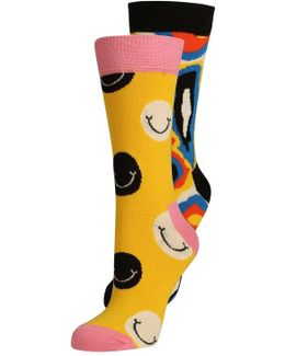 Smile 2 Pack Socks