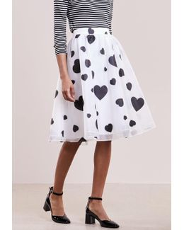 Floating Hearts A-line Skirt