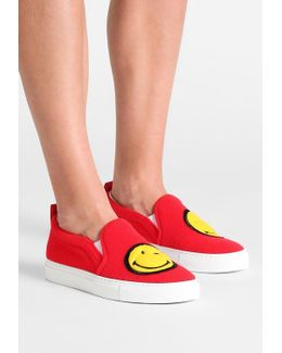 Patched Slip On Sneakers
