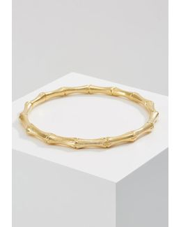 Gold-plated Bamboo-effect Bangle