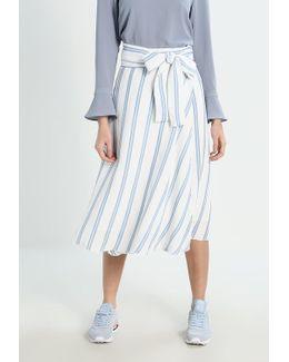 Stripe Day Wrap Maxi Skirt