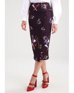 Floral Wrap Wrap Skirt
