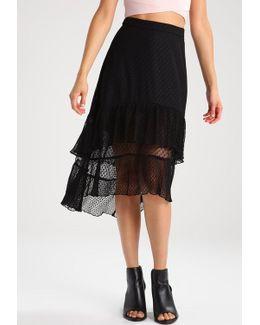 Tiered Spot Maxi Skirt