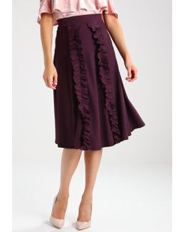 With Vertical Ruffle A-line Skirt