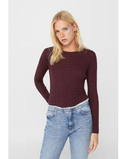 Cable-knit Sweater