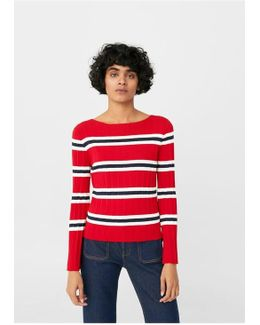 Striped Embossed Sweater