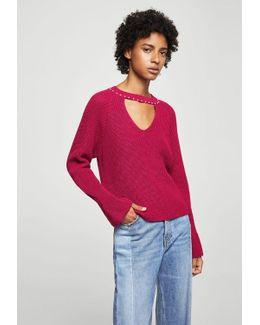 Pearls Neckline Sweater