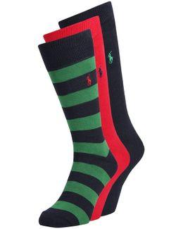 Rugby Stripe 3 Pack Socks