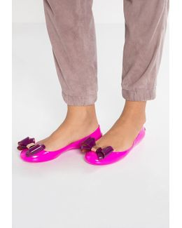 Julivia Bow Hot Pink Ballet Flat Shoes