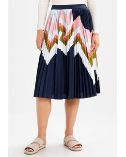 Evianna Mississippi Print Pleated A-line Skirt