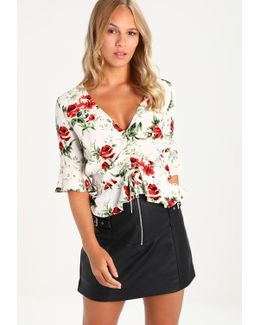 Rose Ruby Ruched Blouse