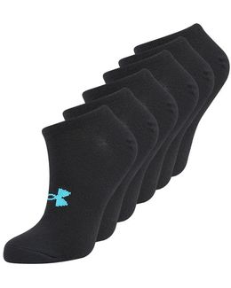 Solid 6 Pack Sports Socks