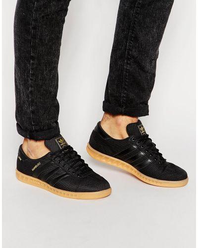adidas Originals Hamburg Trainers S77293 in Black for Men - Lyst