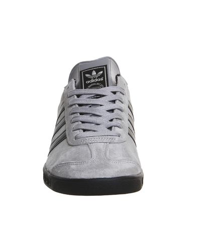 adidas Originals Hamburg Suede and Leather Low-Top Sneakers in ...