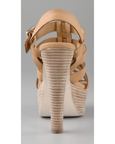 Dolce Vita Jentry Open Back Booties in Nude (Natural) - Lyst
