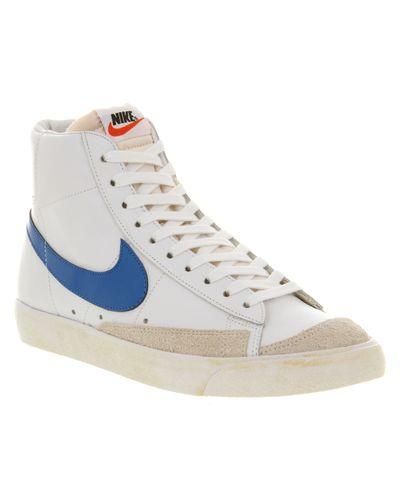 Nike Blazer Mid 77 White Signal Blue for Men - Lyst