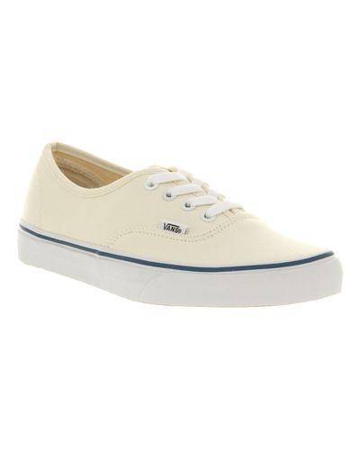Vans Authentic Ecru Low-top sneakers in Cream (Natural) for Men - Lyst