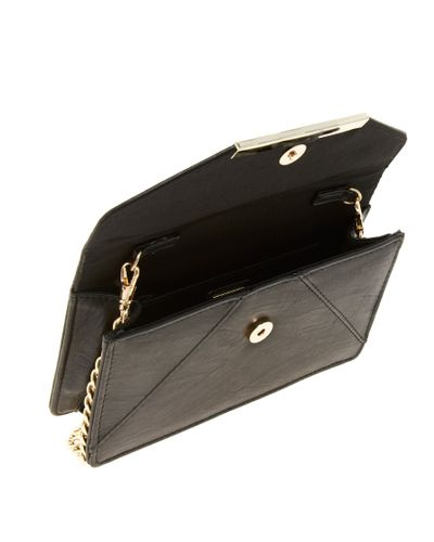 Missguided Nude Faux Leather Croc Cross Body Bag in