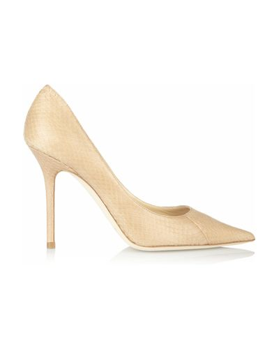 Lyst - Jimmy Choo Abel Patent Leather Pumps in Blue