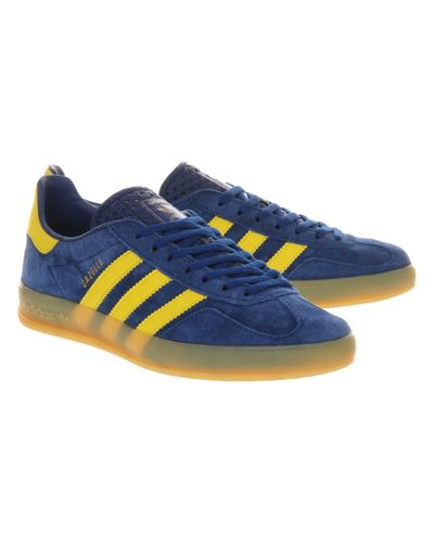 adidas Gazelle Indoor Royal Blue Yellow for Men - Lyst