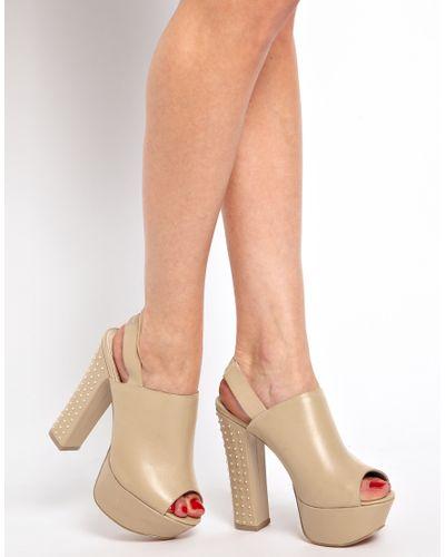 KG by Kurt Geiger Kg Match Nude Flat Sandals in Natural - Lyst