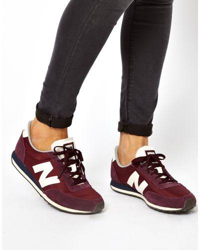new balance burgundy trainers