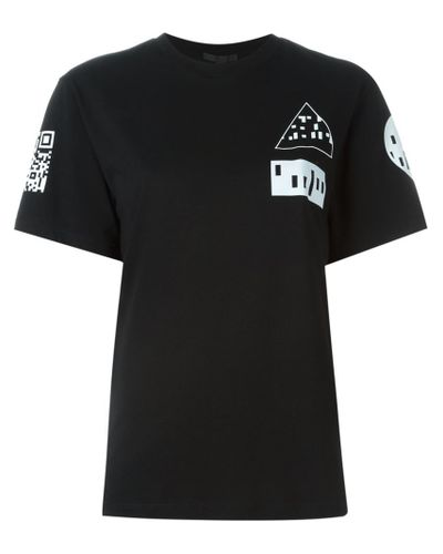 Lyst - Alexander Wang Barcode Logo Print Long Sleeve T