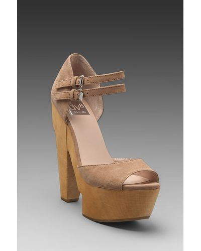 DV8 by Dolce Vita Minx Open Wedges in Nude Suede - $83
