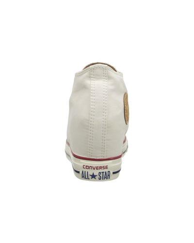 Converse Chuck Taylor® All Star® Lux Mid in Natural - Lyst