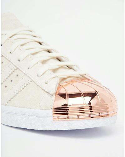 adidas Originals Leather Originals Superstar 80s Rose Gold Metal ...