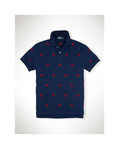 Lobster Embroidered Polo Shirt