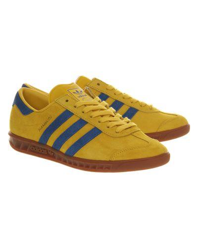 adidas Hamburg in Yellow for Men - Lyst