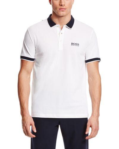 Hugo Boss Men's Paddy Pro Moisture Manager Stretch Polo Color White Size Medium