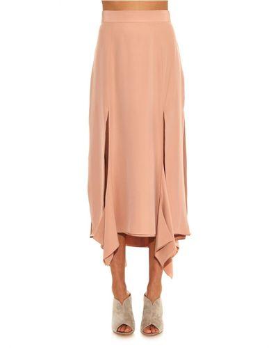 Josie Natori Lace-top Silk Camisole in Nude (Natural) - Lyst