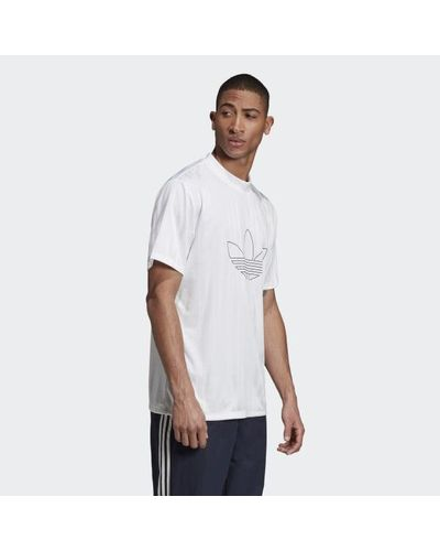 adidas Outline Jersey in White for Men - Lyst