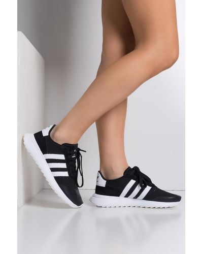 adidas Women's Black Flashback Sneaker