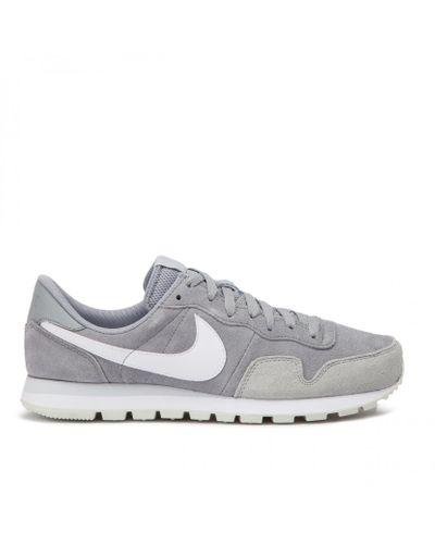 Nike Suede Sportswear Air Pegasus '83 Ltr Sneakers Grey in Gray ...