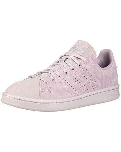 adidas Suede Cloudfoam Advantage Shoe in Pink - Lyst