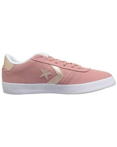 Converse Canvas 's Lifestyle Point Star Ox Trainers in Rust Pink ...