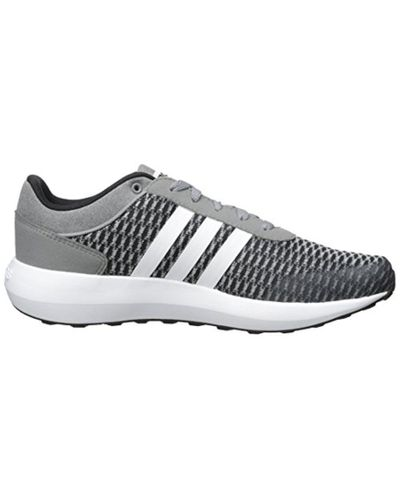 adidas Synthetic Neo Cloudfoam Race Running Shoe in Black/White ...