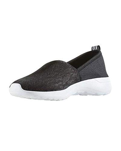 adidas Neo Lite Racer Slip On W Casual Sneaker in Black/White ...