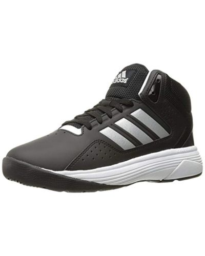 adidas Leather Neo Cloudfoam Ilation Mid Wide Basketball Shoe in ...
